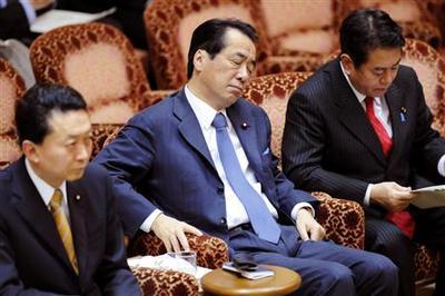 """森雅子議員から""""国会の居眠り王""""と命名された後も、また居眠りする菅直人"""