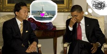 鳩山由紀夫「友愛の船で、ぽっぽっぽっぽ…」オバマ大統領「……」