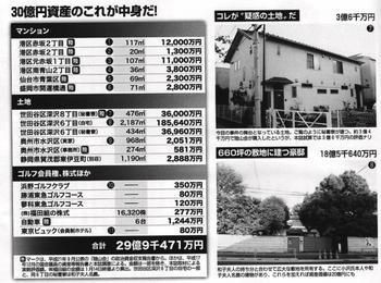 小沢一郎の疑惑の土地と30億円資産の中身