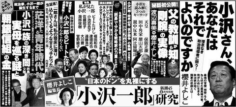 新潮45別冊・「小沢一郎」研究 2010年04月号
