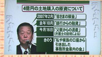 4億円の土地購入の原資を巡る、小沢一郎の説明の変遷